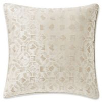 Waterford® Lancaster 18-Inch Square Throw Pillow in Sand