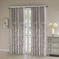 Madison Park Anaya 84-Inch Cotton Window Curtain Panel in Yellow/Grey