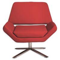 Euro Style® Carlotta Swivel Chair in Red