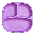Re-play 7-Inch Toddler Divided Plate in Purple