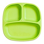 Re-play 7-Inch Toddler Divided Plate in Green