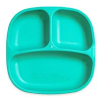 Re-play 7-Inch Toddler Divided Plate in Aqua