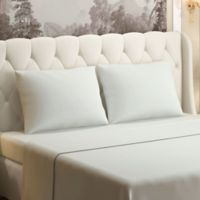 Brielle 630-Thread-Count 100% Cotton Sateen King Sheet Set in Ivory