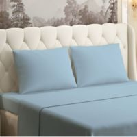 Brielle 630-Thread-Count 100% Cotton Sateen Queen Sheet Set in Light Blue