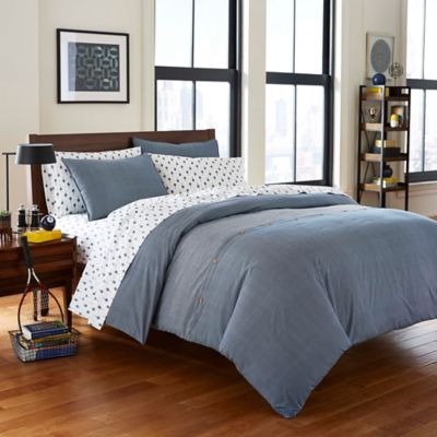 Poppy U0026 Fritz® Thompson Reversible Full/Queen Comforter Set In Navy
