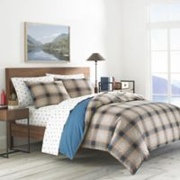 Eddie Bauer® Elliot Plaid Reversible Full/Queen Duvet Cover Set in Blue