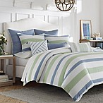 Nautica® Norwich Reversible Striped Full/Queen Comforter Set in Blue