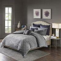 Madison Park Signature Sophisticate Velvet King Comforter Set in Grey