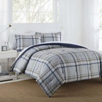 IZOD® Connor Reversible Full/Queen Comforter Set in Grey/Navy