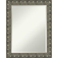 Amanti Barcelona 22-Inch x 28-Inch Bathroom Wall Mirror in Champagne