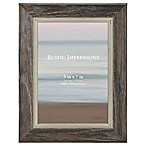 Rustic 5-Inch x 7-Inch 2-Tone Wood Picture Frame in Grey