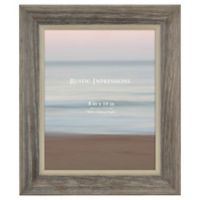 Rustic Impressions 8-Inch x 10-Inch Wood Picture Frame in Grey