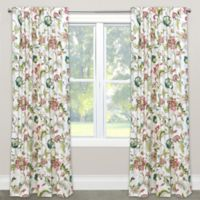 Skyline Furniture Brissac 63-Inch Rod Pocket/Back Tab Window Curtain Panel in Jewel