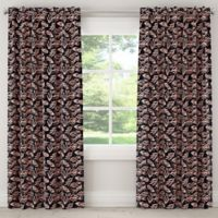 Skyline Furniture Bold Floral 84-Inch Rod Pocket Blackout Window Curtain Panel in Pink