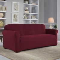 Perfect Fit® NeverWet Luxury Sofa Slipcover in Garnet