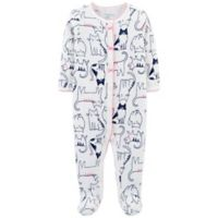 carter's® Size 3M Cats Footed Thermal Coverall in Ivory