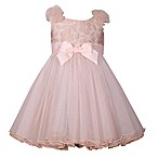 Bonnie Baby Size 3-6M Ruffle Shoulder Dress and Panty in Pink