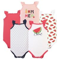 Hudson Baby® Size 12-18M 5-Pack Watermelon Sleeveless Bodysuits in Red