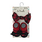 So 'Dorable® 2-Piece Buffalo Print Headband and Bootie Set in Red/Black
