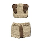 So 'dorable 0-3M 2-Piece Knit Puppy Diaper Cover Set