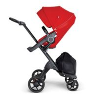 Stokke® Xplory® Stroller in Red with Black Frame and Black Handle