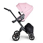 Stokke® Xplory® Stroller in Lotus Pink with Black Frame and Black Handle