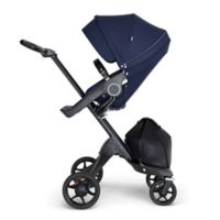 Stokke® Xplory® Stroller in Deep Blue with Black Frame and Black Handle