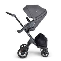 Stokke® Xplory® Stroller in Black Melange with Black Frame and Black Handle