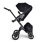 Stokke® Xplory® Stroller in Black with Black Frame and Black Handle