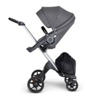 Stokke® Xplory® Stroller in Black Melange with Silver Frame and Black Handle