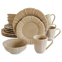 Euro Ceramica Chloe 16-Piece Dinnerware Set in Taupe