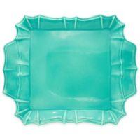 Euro Ceramica Chloe Square Platter in Turquoise