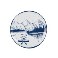 "Everyday White® by Fitz and Floyd® Lake ""Explore"" Accent Plate"