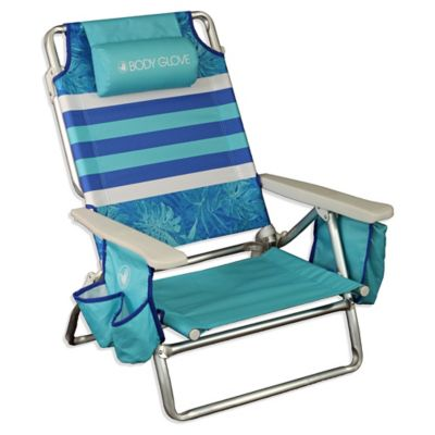 Body Glove® 5 Position Beach Chair In Blue