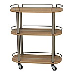 Household Essentials® 3-Shelf Utility Cart in Light Ash
