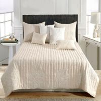 Palmala Embroidered King Quilt in Natural