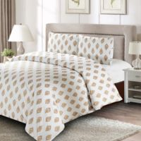 Gold Leaf King Duvet Cover Set in Gold