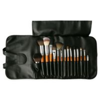 Vanity Planet Palette 15-Piece Professional Makeup Brush Set in Birchwood