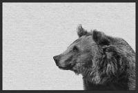 Marmont Hill Side Furry Bear II 36-Inch x 24-Inch Framed Canvas Wall Art