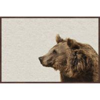 Marmont Hill Side Furry Bear 36-Inch x 24-Inch Framed Wall Art