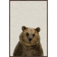 Marmont Hill Furry Bear 16-Inch x 24-Inch Framed Wall Art