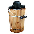 Amerihome 6-Quart Wooden Electric/Hand Crank Ice Cream Maker