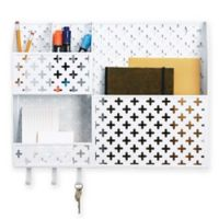 Euler Metal Wall Organizer in Matte Black