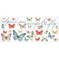 RoomMates Lisa Audit Butterfly Quote Peel & Stick Wall Decals
