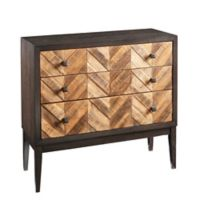 Madison Park Apollo 3-Drawer Accent Chest in Brown