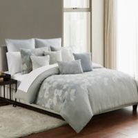 Highline Bedding Co. Belize Reversible Full/Queen Duvet Cover Set in Blue Haze