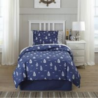 Lullaby Bedding Away At Sea 3-Piece Full/Queen Duvet Cover Set in Navy/White