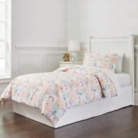 Lullaby Bedding Unicorn 3-Piece Twin Comforter Set in Peach/Red