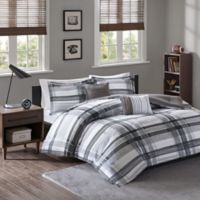 Intelligent Design Rudy Plaid 4-Piece Twin/Twin XL Comforter Set in Black