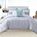Vince Camuto® Kasu Striped Reversible Full/Queen Duvet Cover Set in White/Grey